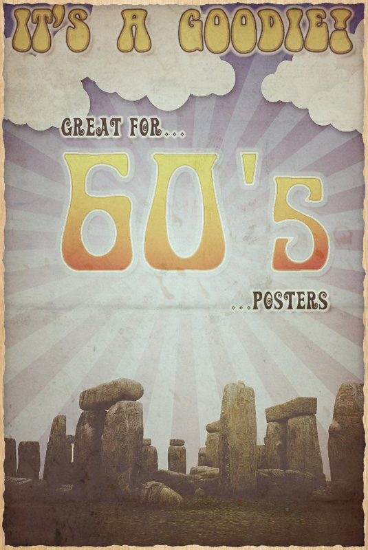 It`s Groovy: A 60`s inspired image of Stonehenge.