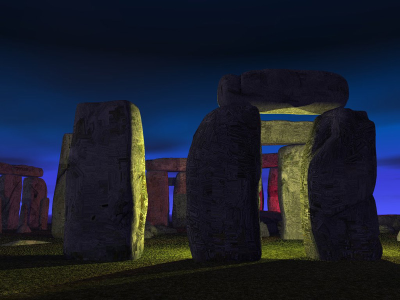 Stonehenge at Night: Stonehenge at night.