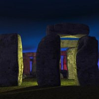 Click to see the full-sized image: 'Stonehenge at Night'.