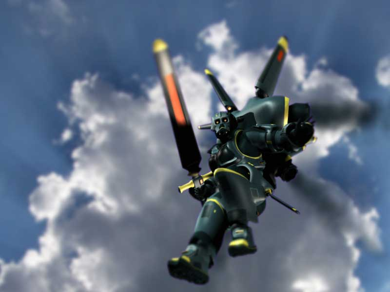 Aerial assault: Render: Poser 6.