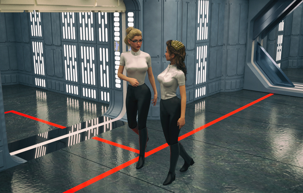 Star Wars: The T-Girl Saga 17: Panel #17 from <i>Star Wars: The T-Girl Saga</i>. Rendered in DAZ Studio.