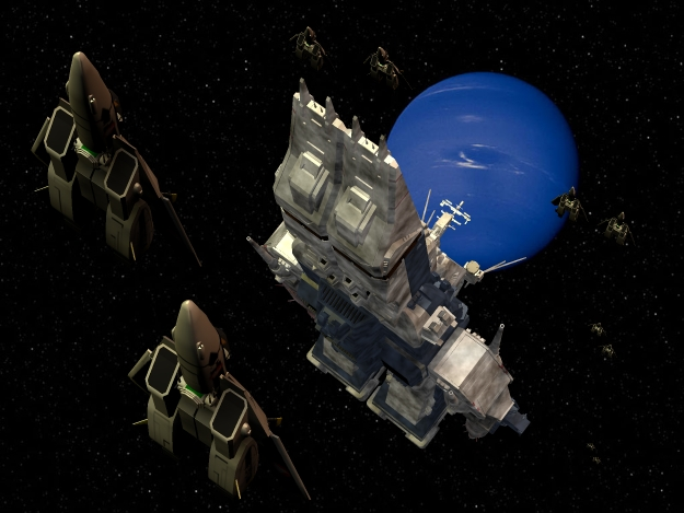 SDF-1 - In Neptune`s Orbit: Background picture courtesy of NASA.  
