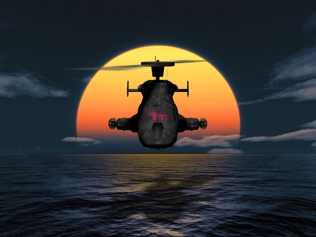 Airwolf by Night: As the sun goes down, Airwolf comes up on yet another hazardous mission.