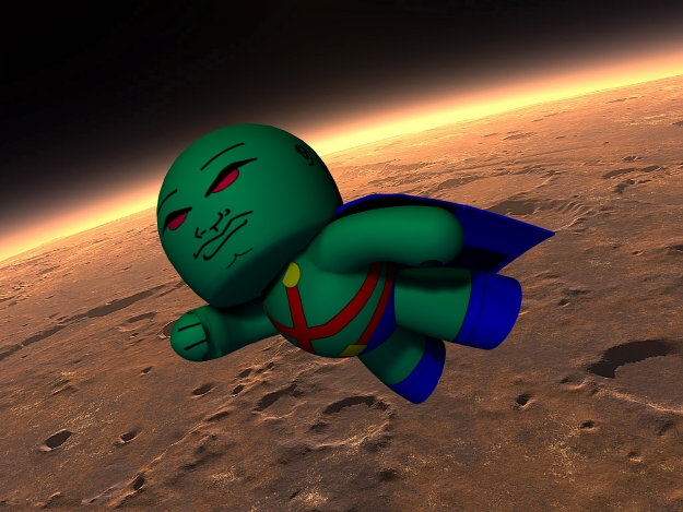 Return to Mars: He may now have a place on Earth, but for the Veeple Martian Manhunter Mars will always be his true home.