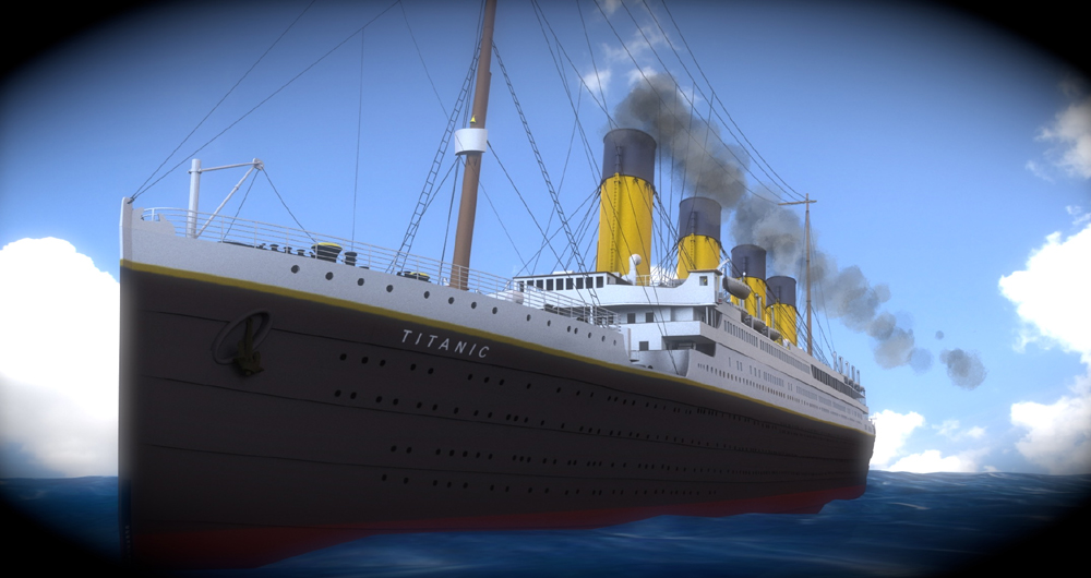 Titanic: An image of the Titanic.