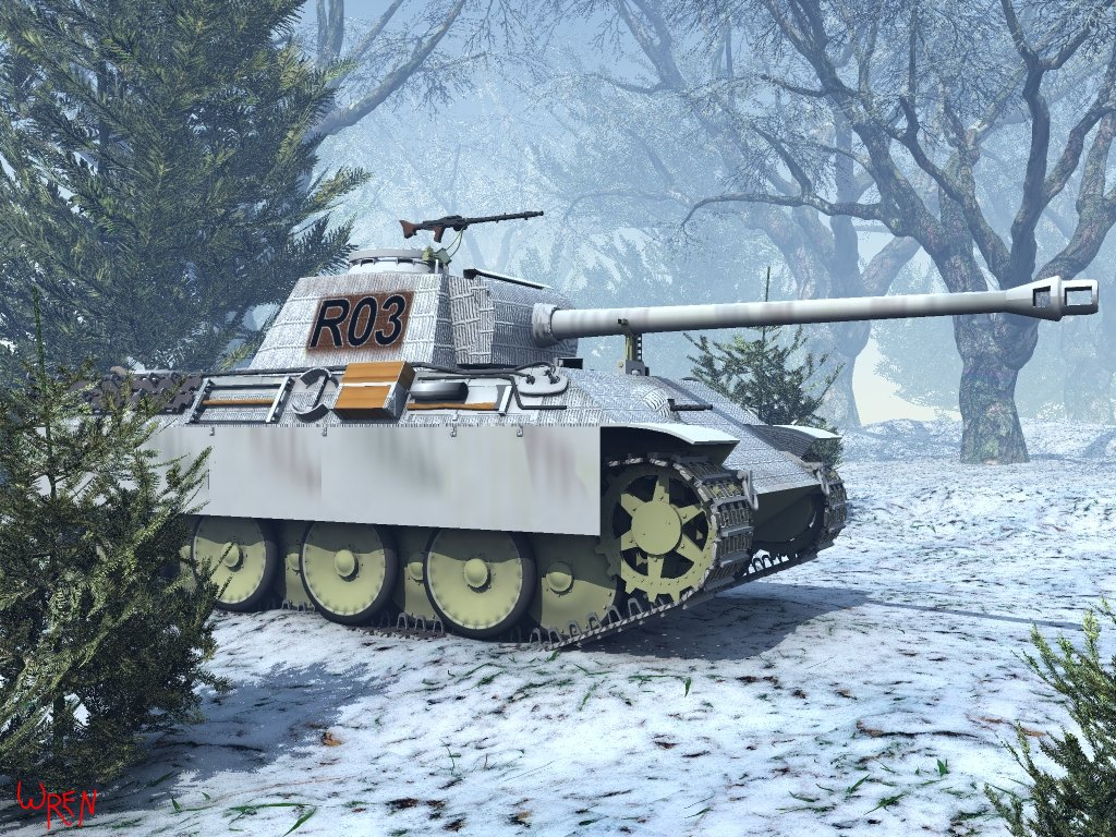Panther V (g)  Battle of the Bulge: Vue 5 Easel