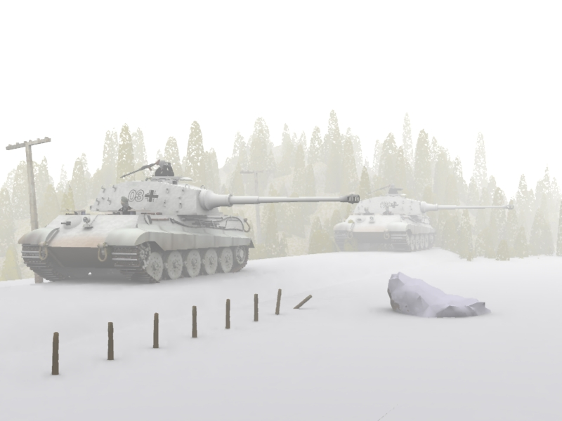 Snow Kings: rendered in Vue 6. King Tiger for Poser available right here at VP.