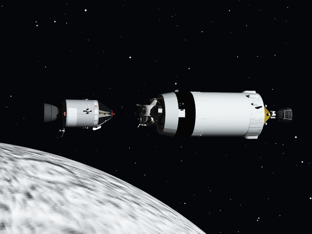Let`s get together: Used my Saturn V and a modified Eagle Lander and Vue 6 espirit