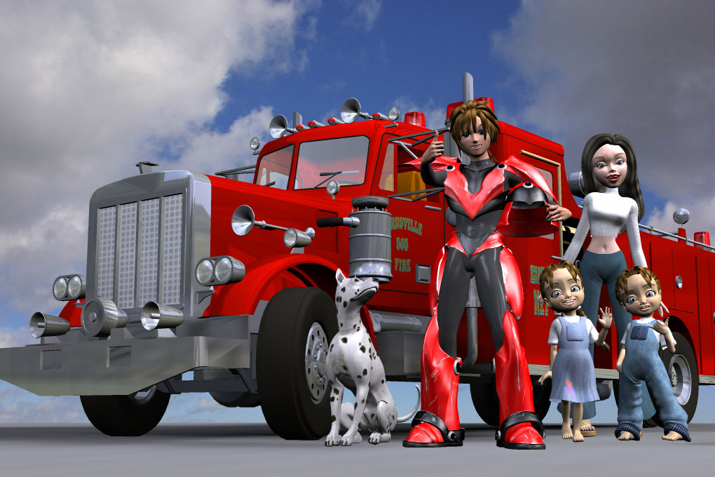 Fire Safety Promo: Poser illustration for a school fire