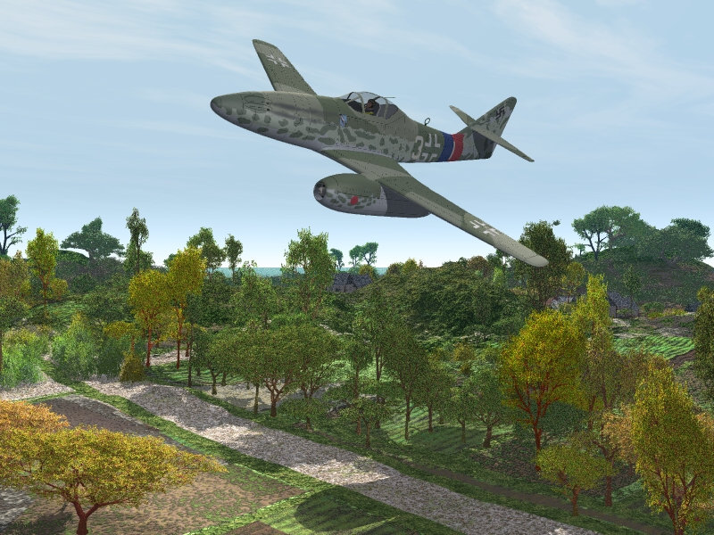 Returning from an Intercept: The model is Bazze's Me-262 available from the VP store here. The texture is a historical one I made. A pilot from 9.JG/7