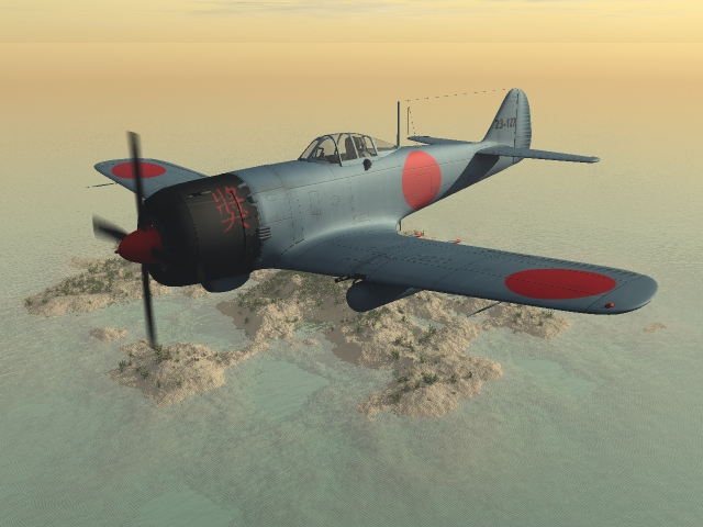 Ki-84: Ki-84 made by Bazze. The texture is made by me.