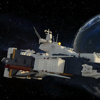 Click to see the full-sized image: 'SDF-1 In Orbit (cruiser mode)'.