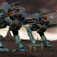 Click to see the full-sized image: 'Hawksclaw Mechs on Patrol'.