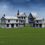 Low Polygon Medieval Buildings 1 (for DAZ Studio)
