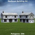 Low Polygon Medieval Buildings 1 (for Poser)