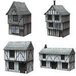 Click to see information about the 'Low Polygon Medieval Buildings 1 (for Poser)'.