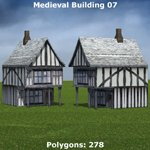 Low Polygon Medieval Buildings Pack (for Poser)