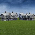 Low Polygon Medieval Buildings 3 (for DAZ Studio)