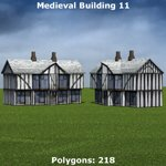 Low Polygon Medieval Buildings 3 (for Poser)