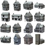 Click to see information about the 'Low Polygon Medieval Buildings Pack (for Poser)'.