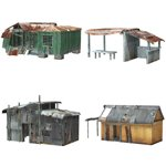 Click to see information about the 'Shanty Town Buildings 1: Set 1 (for Poser)'.