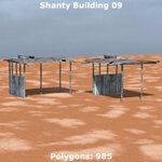 Shanty Town Buildings 1: Set 3 (for Poser)