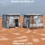 Shanty Town Buildings 1 Mega-Pack (for Poser)