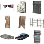 Shanty Town Buildings 1: Accessories (for Poser)