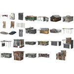 Click to see information about the 'Shanty Town Buildings 1 Mega-Pack (for Poser)'.