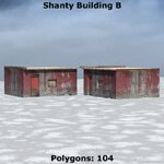 Shanty Town Buildings 2: Set 1 (for Poser)
