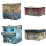 Click to see information about the 'Shanty Town Buildings 2: Set 1 (for Poser)'.