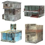 Click to see information about the 'Shanty Town Buildings 2: Set 3 (for Poser)'.
