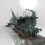 Leopold (German Rail Gun WWII) (for 3D Studio Max)