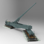 Click to see information about the 'Leopold (German Rail Gun WWII) (for 3D Studio Max)'.