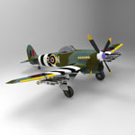 Click to see information about the 'Hawker Typhoon (for 3D Studio Max)'.