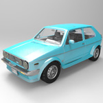 Click to see information about the 'Volkswagen Golf I GTI (for 3D Studio Max)'.