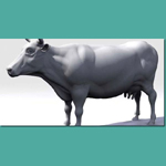 Cow (for 3D Studio Max)