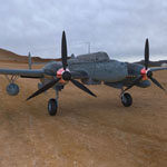 Click to see information about the 'Messerschmitt BF 110 G2 (for 3D Studio Max)'.