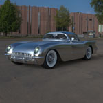 Click to see information about the 'Chevrolet Corvette `54 (for 3D Studio Max)'.
