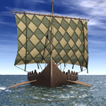 Click to see information about the 'Viking Ship (for Poser)'.