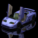 Click to see information about the 'Bugatti EB 110 (for Poser)'.