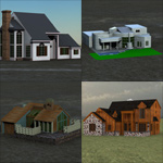 Click to see information about the 'House Pack (for Poser)'.