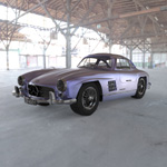 Click to see information about the 'Mercedes Benz 300 SL (for Wavefront OBJ)'.
