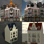 Townhouse Pack (for Poser)
