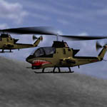 AH-1 Cobra Helicopter (for Vue)