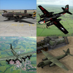 Click to see information about the 'Bomber Aircraft Pack 2 (for Poser)'.