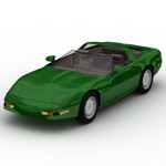 Click to see information about the 'Corvette ZR 1 (for Wavefront OBJ)'.