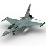 Click to see information about the 'F 16C (for Wavefront OBJ)'.