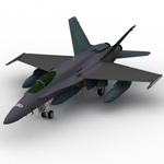 Click to see information about the 'F/A-18 Hornet (for Wavefront OBJ)'.