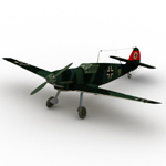 Click to see information about the 'Messerschmitt BF 109 B (for Wavefront OBJ)'.